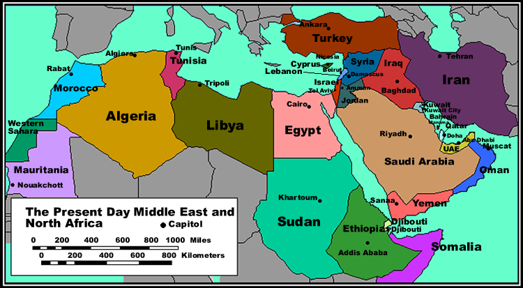 middle east and north africa political map   Metal Working World
