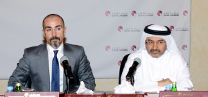 Nicola Castelli during a meeting with Italian and Qatar businesses.