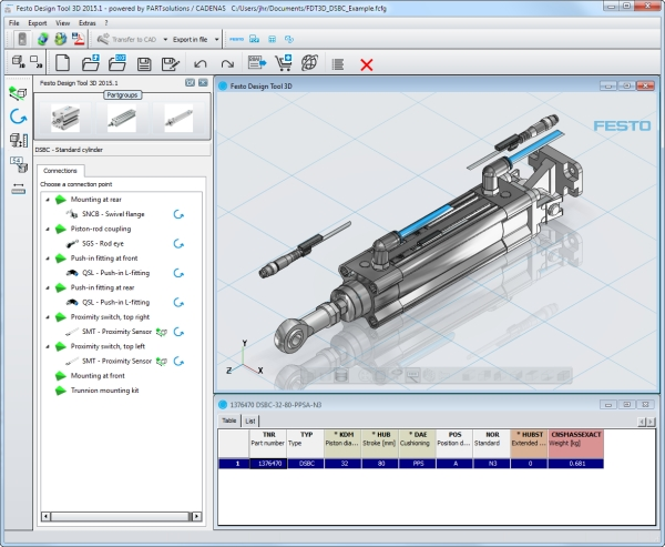 No error in configuring and ordering of pneumatic systems 3d tool free