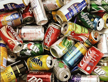 Aluminum cans are the first in recycling metal working for Aluminum can decorations