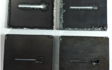 Arc voltage to locate the anode spot in plasma arc cutting