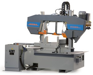 Automatic Meba band sawing machine model 335 G distributed by F.lli Gaiani at Desio (MB).