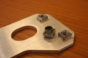 Anti-rotation insert with square shape KAPti-nut, patented by Unifast.