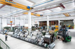 View of the new Revolti Lattoneria factory at Ravina di Trento (TN).
