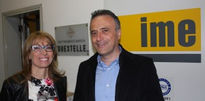 Elena Farina, owner of Co.Ma.F. at Sovico (MB) and Antonio Facchinetti, production manager of Imequadri Duestelle at Urgnano (BG).