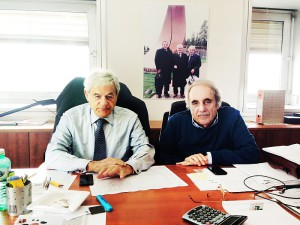 Sergio Longo, President of the Board of Directors of Iron at S. Maria degli Angeli (PG) and  Augusto Felici, Managing Director.