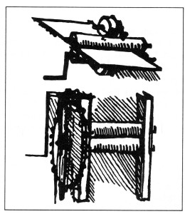 Sketch of a Rolling Mill. Leonardo da Vinci 1485