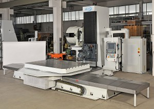 View of Rtx 40 milling machine with fixed bed and mobile column