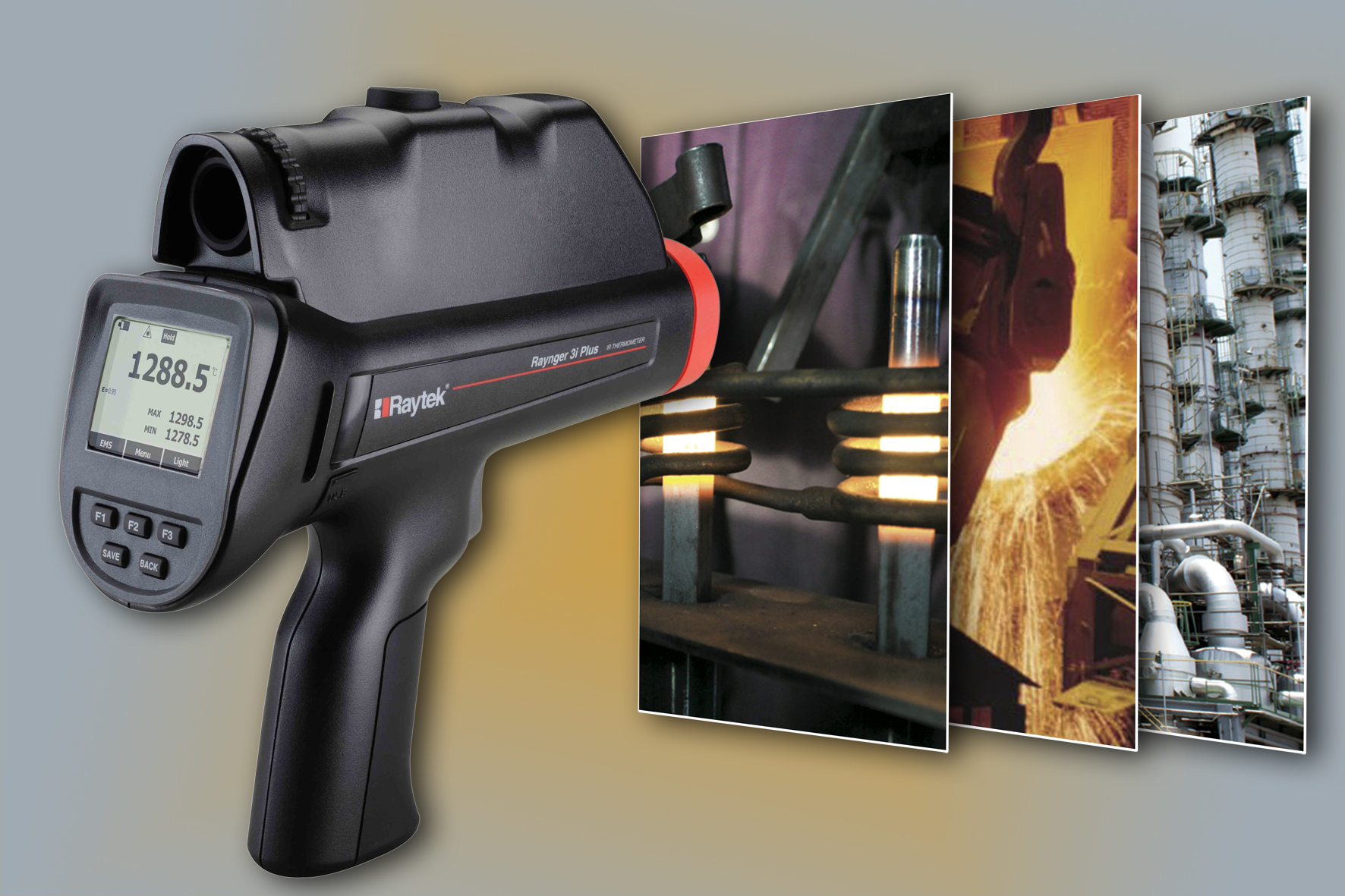 Handheld Infrared Thermometer Raynger 174 3i Plus For High
