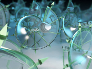 Magnetic spin-waves in a solid - Illustration: Christoph Hohmann / NIM