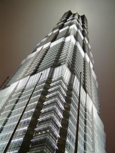 2005 陆家嘴 夜景 金茂大厦 上海 浦东 中国